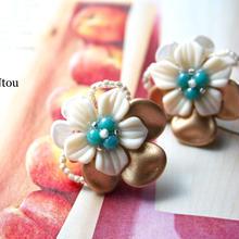 受注制作Tahiti イヤリング/ピアス cream