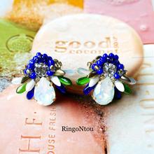 Butterfly Bijou ピアス/イヤリング Blueberry