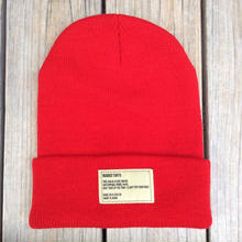 【ラス1】RUGGED beanie(Red×OffWhite)