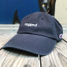 "【残り僅か】RUGGED on Champion ""rugged"" adjuster cap(Navy)"