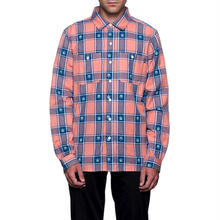 【残り僅か】HUF PLANTLIFE PLAID L/S SHIRT (Peach)