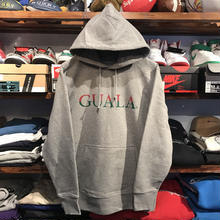 "【残り僅か】GUALA ""Two‐tone Logo"" sweat hoody (12.7o.z/Gray)"