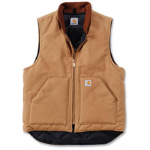 【残り僅か】Carhartt ARCTIC QUILT LINE Duck vest (Brown)