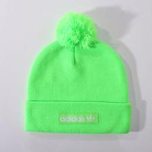 【ラス1】adidas woven logo ponpon beanie (Green)