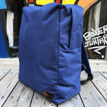 RUGGED plain backpack(Navy/Black)