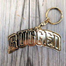 "【残り僅か】RUGGED ""ARCH LOGO"" key ring (Gold)"