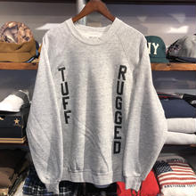 "RUGGED on vintage ""TUFF RUGGED"" raglan sweat ②"