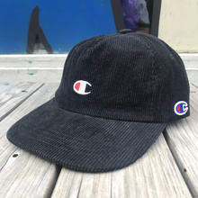 【ラス1】Champion Corduroy adjuster cap (Black)