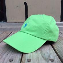 """【ラス1】POLO RALPH LAUREN """"small pony '' logo adjuster cap (Light Green×Light Blue)"""