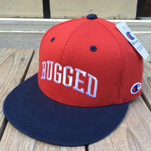 【残り僅か】RUGGED on Champion snapback(Red×Navy)