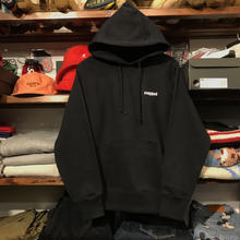 "RUGGED ""rugged®︎ "" reverse weave hoodie (Black/12.0oz.)"