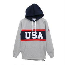 【ラス1】Champion ''USA'' pullover sweat hoodie  (Gray)