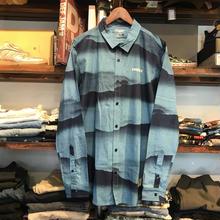 """【ラス1】RUGGED """"ARCH LOGO"""" Deep mountain shirt(Blue)"""