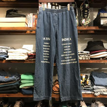 "RUGGED on vintage ""SAT/IND"" easy denim (M) ①"