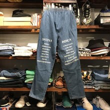 "RUGGED on vintage ""SAT/IND"" easy denim (M) ③"