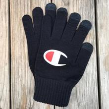 """【ラス1】Champion logo """"Big C logo"""" gloves (Navy)"""