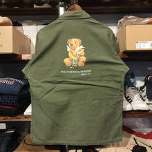 "RUGGED on Vintage ""POLO SMOKE"" military shirt (M)③"