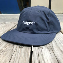 "【ラス1】RUGGED ""rugged"" nylon shallow cap (Navy × White)"