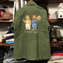 "RUGGED on vintage ""POLO DREAM"" military shirt (M)③"
