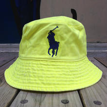 "POLO RALPH LAUREN ""BIG PONY"" kid's bucket hat (neon yellow)"
