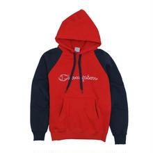 【残り僅か】Champion logo raglan hoodie (Red)