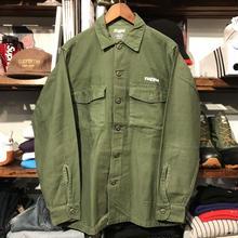 "RUGGED on vintage ""POLO DREAM"" military shirt (M)④"