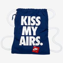 """【ラス1】NIKE """"KISS MY AIRS."""" gymsack (Blue)"""