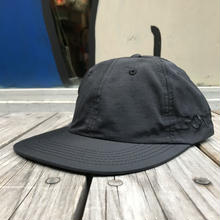 "RUGGED ""LOVE""  nylon shallow cap  (Black × Black)"