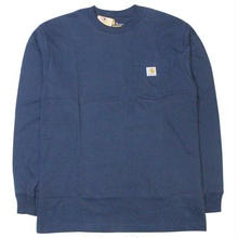 【残り僅か】Carhartt L/S pocket tee (Navy)