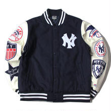 Majestic WAPPEN STADIUM JACKET (Navy×White)