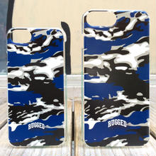 RUGGED ''SMOKIN' TIGER'' iPhone case (Blue)