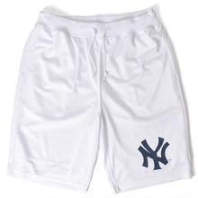 """【ラス1】Majestic """"NY YANKEES"""" mesh shorts(White)"""