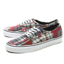 【残り僅か】VANS Authentic Plaid Patch work (Red)