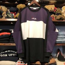 【残り僅か】FILA line crewneck jersey (Purple)