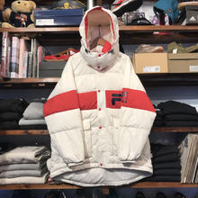 【ラス1】FILA Down hooded jacket (White)