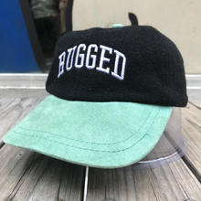 "【ラス1】RUGGED on vintage  ""ARCH LOGO"" adjuster cap (Black/Turquois))"