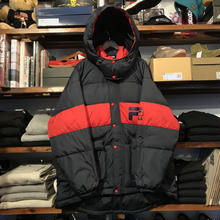 【残り僅か】FILA Down hooded jacket (Navy)