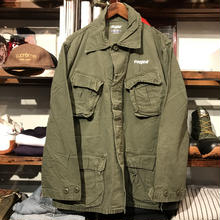 "RUGGED on vintage ""Stencil Arch"" military jacket (M)"