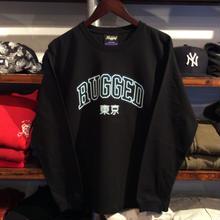 "RUGGED ""TOKYO NEON"" L/S tee (6.6oz./Black)"