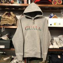 【ラス1】GUALA two-tone logo sweat hoody (12.7o.z/Gray)
