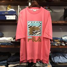 【残り僅か】FILA big logo leopard tee(Light Pink)