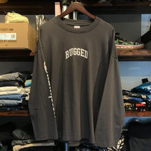 "【残り僅か】RUGGED on Champion ""ARCH LOGO"" SLEEVE LOGO TEE (Dark Gray)"