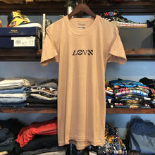 "【残り僅か】RUGGED on deadstock ""LOVE"" tee (Beige)"