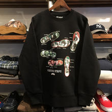 【ラス1】RUGGED ''POSITIVE STEP'' heavy weight sweat (Black/12.7oz)