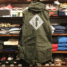 "RUGGED on vintage ""DIA LOGO""mods coat(L)⑩"