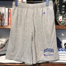 "RUGGED on Champion ""ARCH LOGO"" shorts (Oxford Gray)"