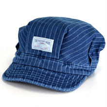 【残り僅か】THE FACTORY MADE indigo stripe casket(Denim)