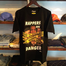 【残り僅か】RUGGED ''RAPPERS ARE DANGER'' tee (Black/Poster付)