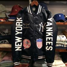 """【残り僅か】Majestic """"NEW YORK YANKEES"""" team logo studium jacket(Navy)"""