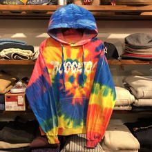 "【ラス1】RUGGED ""ZOMBIE!"" light oz. sweat hoodie (Flo Rainbow)"